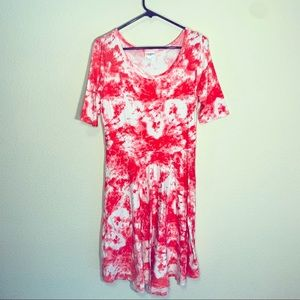 LuLaRoe Dresses - Lularoe Tie-Dye Nicole Dress